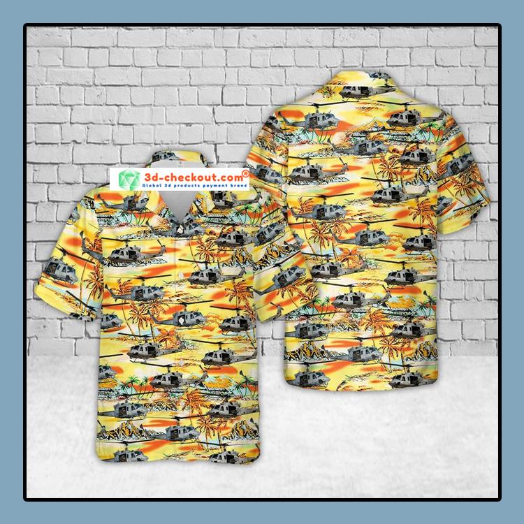 USMC UH 1N Twin Huey Hawaiian Shirt And Shorts