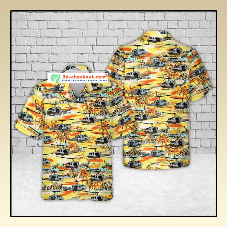 USMC UH 1N Twin Huey Hawaiian Shirt And Shorts1