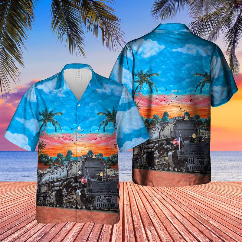 Union Pacific Railroad Big Boy No 4014 Steam Hawaiian Shirt