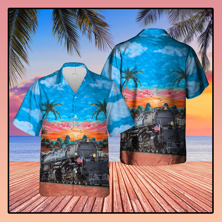 Union Pacific Railroad Big Boy No 4014 Steam Hawaiian Shirt3
