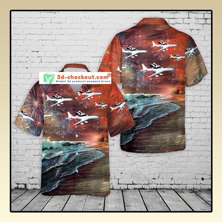 United States Air Force Boeing Hawaiian Shirt And Shorts3