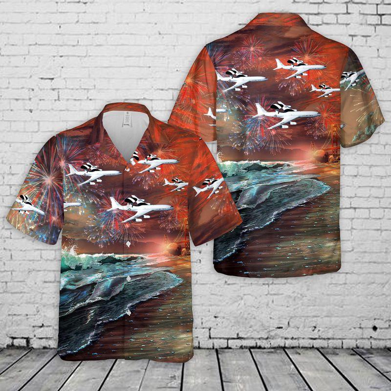 United States Air Force Boeing Hawaiian Shirt And Shorts5