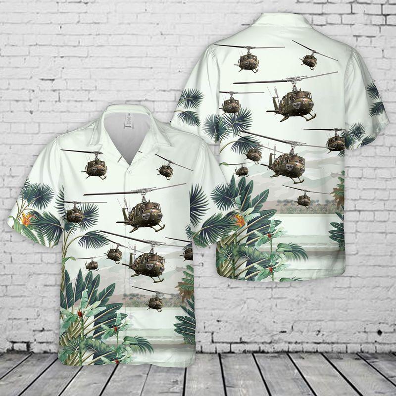 Us Army Bell UH 1 Huey Hawaiian Shirt And Short