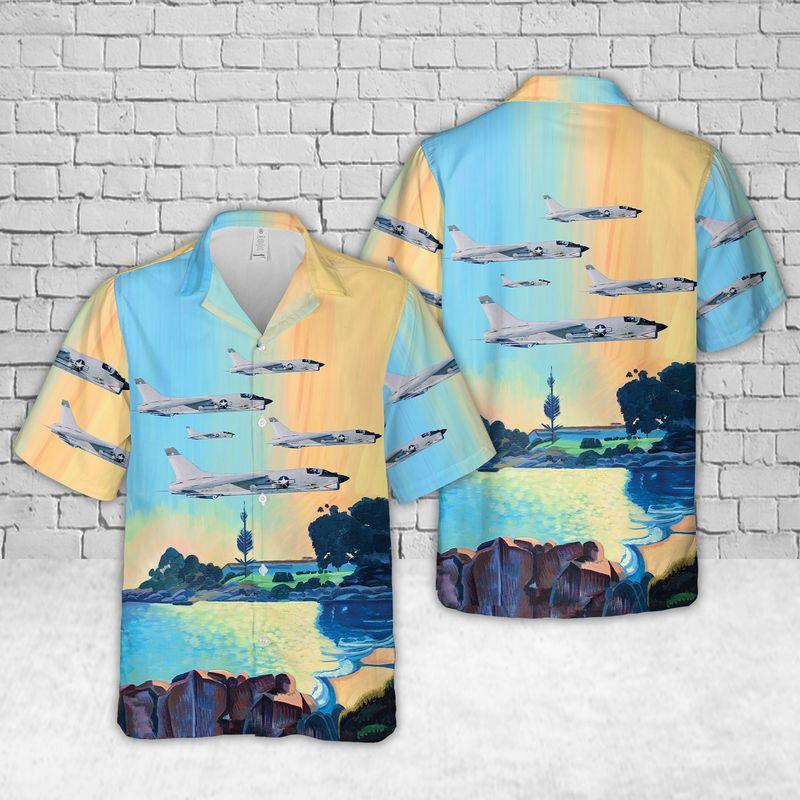 VC 7 Vought F 8 Crusader Hawaiian Shirt