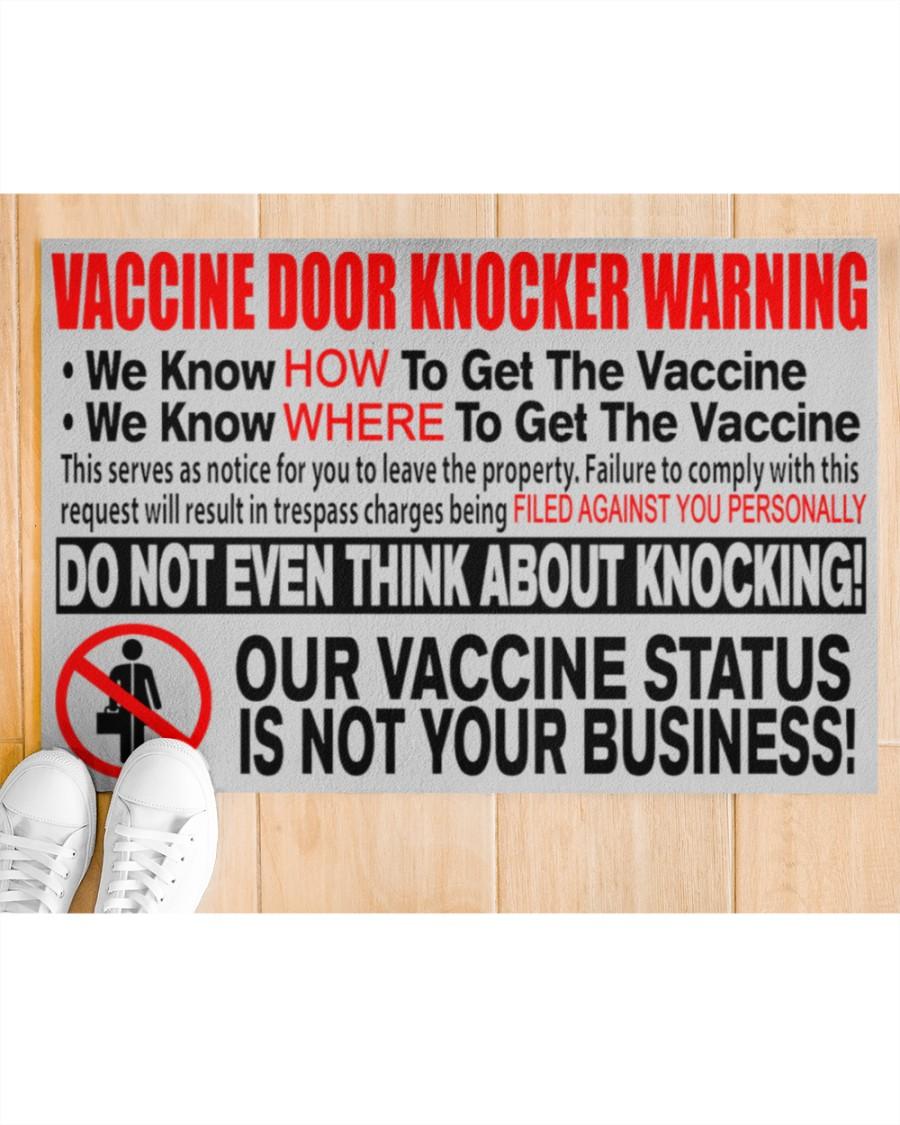 Vaccine Door Knocker Warning We Know How To Get The Vaccine We Know Where To Get The Vaccine Doormat2
