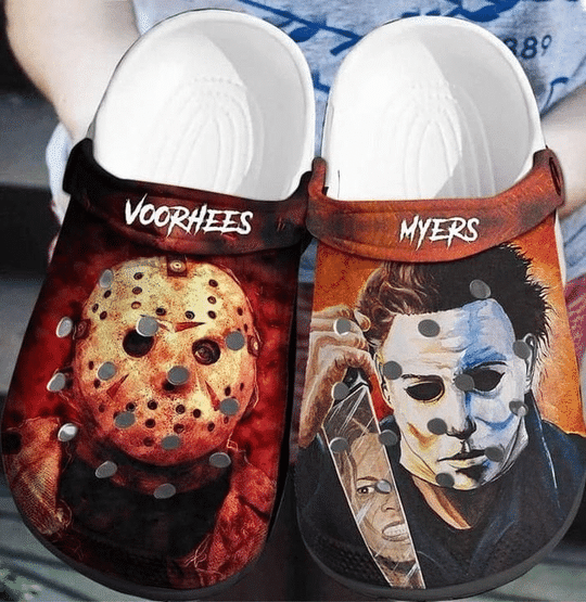 Voorhees And Myers Horror Movie Crocs Clogs Shoes