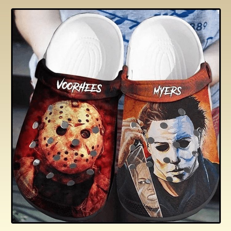 Voorhees And Myers Horror Movie Crocs Clogs Shoes3