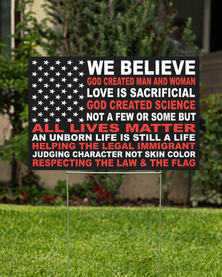 We Believe God Created Man And Woman Yard Signs1