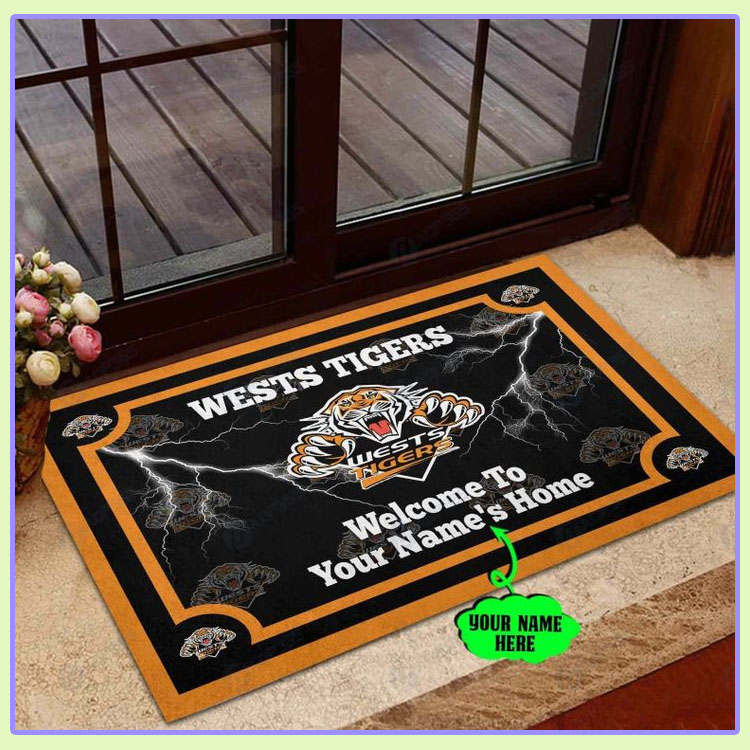 Wests Tigers Personalized welcome to home Doormat1