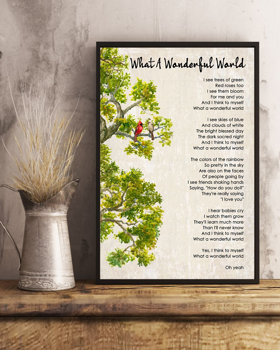 What A Wonderful World Poster And Canvas2