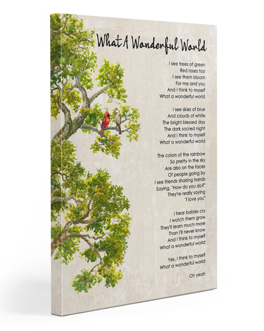 What A Wonderful World Poster And Canvas4