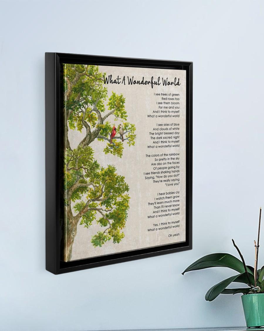 What A Wonderful World Poster And Canvas7