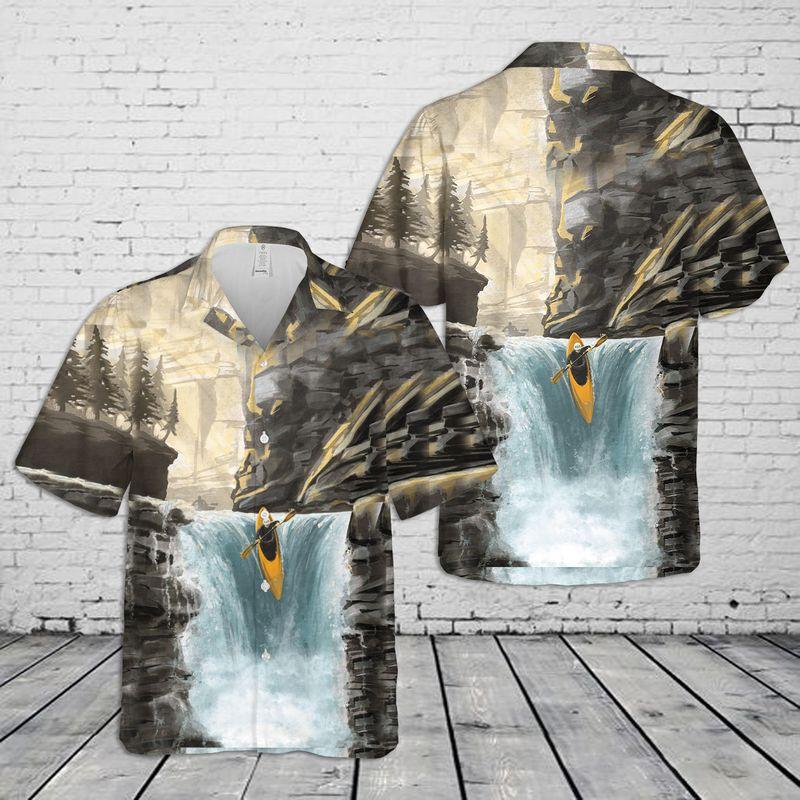 Whitewater Kayaking Hawaiian Shirt
