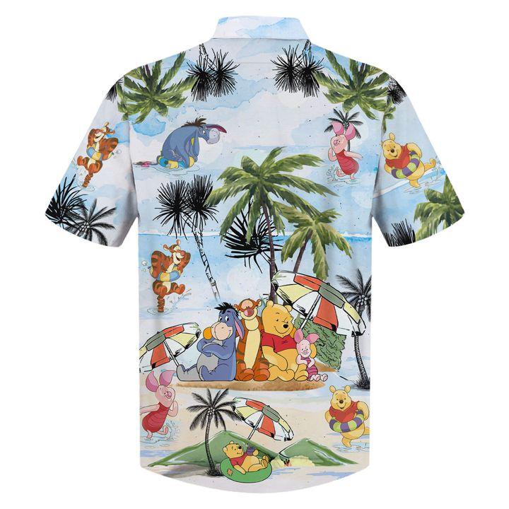 Winnie The Pooh Summer Time Hawaiian Shirt1