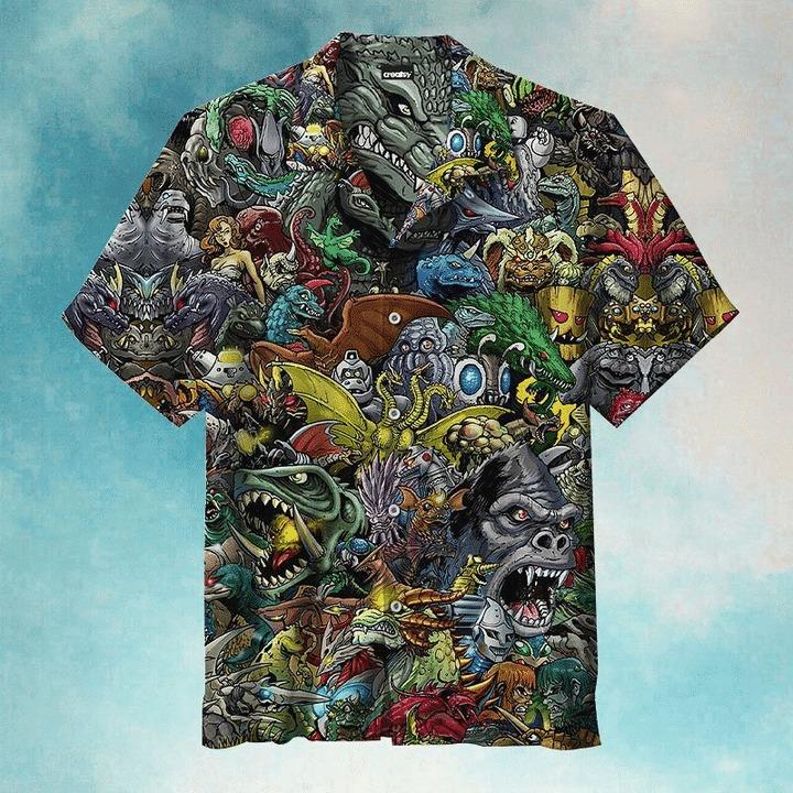 World of godzilla hawaiian shirt
