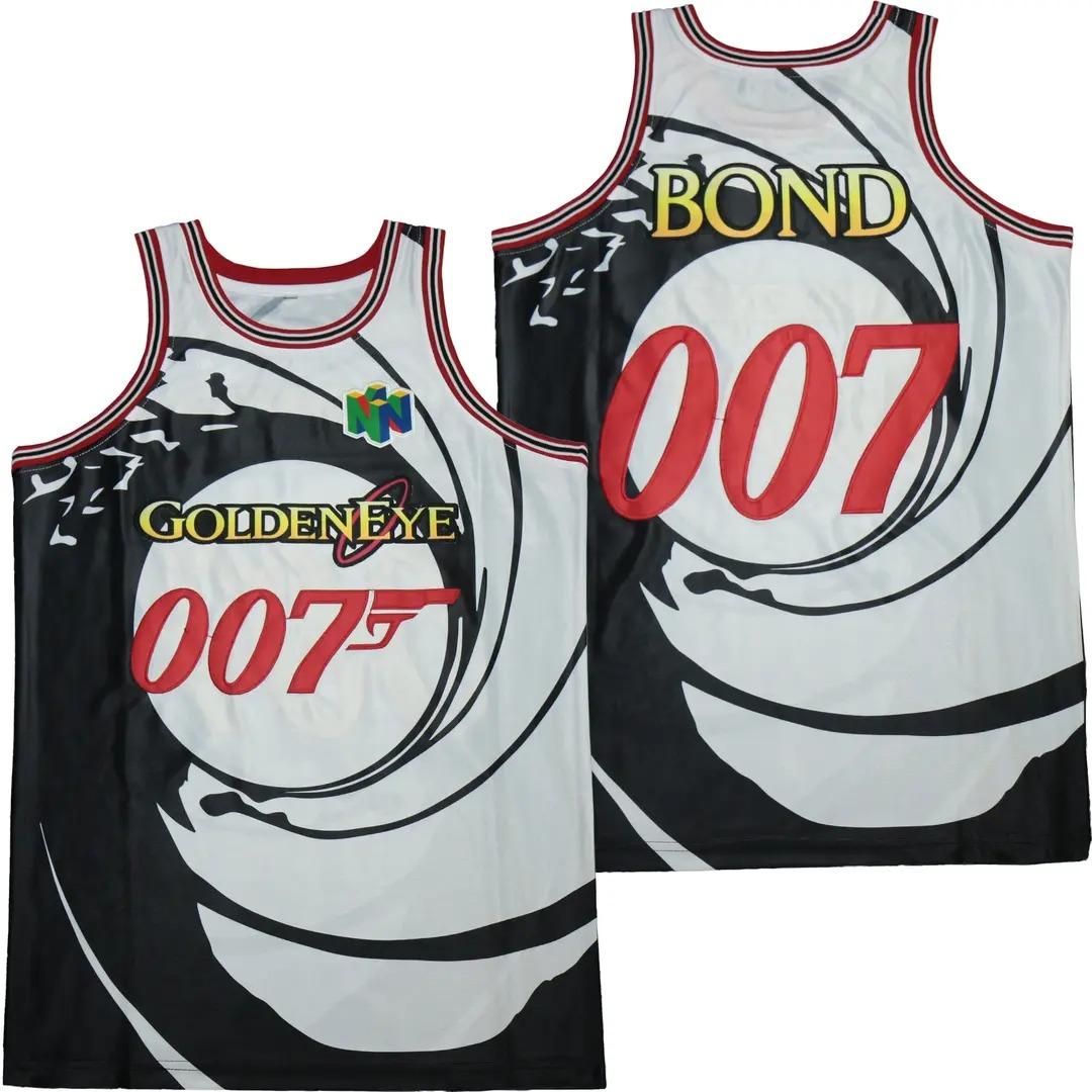 13 007 James Bond Goldeneye Movie Basketball Jersey 1
