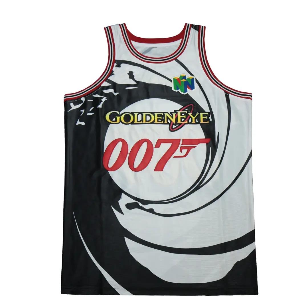 13 007 James Bond Goldeneye Movie Basketball Jersey 2