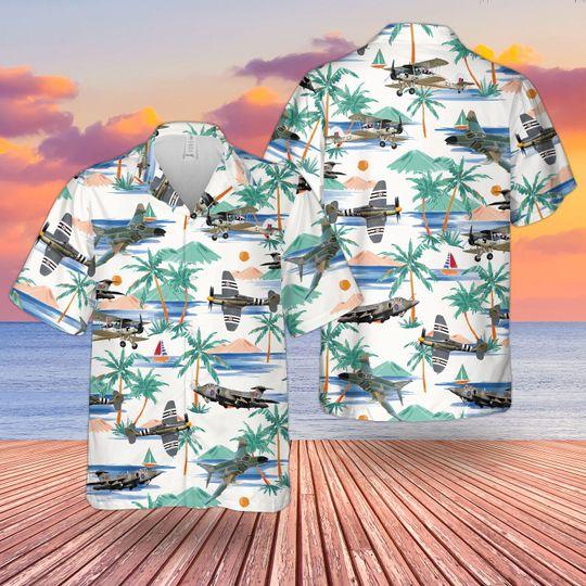 Aircraft hawaiian shirt