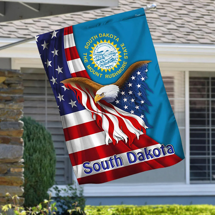 American Flag Eagle South Dakota The Mount Rushmore State Flag3 1