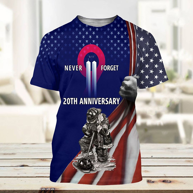 American Flag Never Forget 20th Anniversary 3d Hoodie And T Shirt5 1