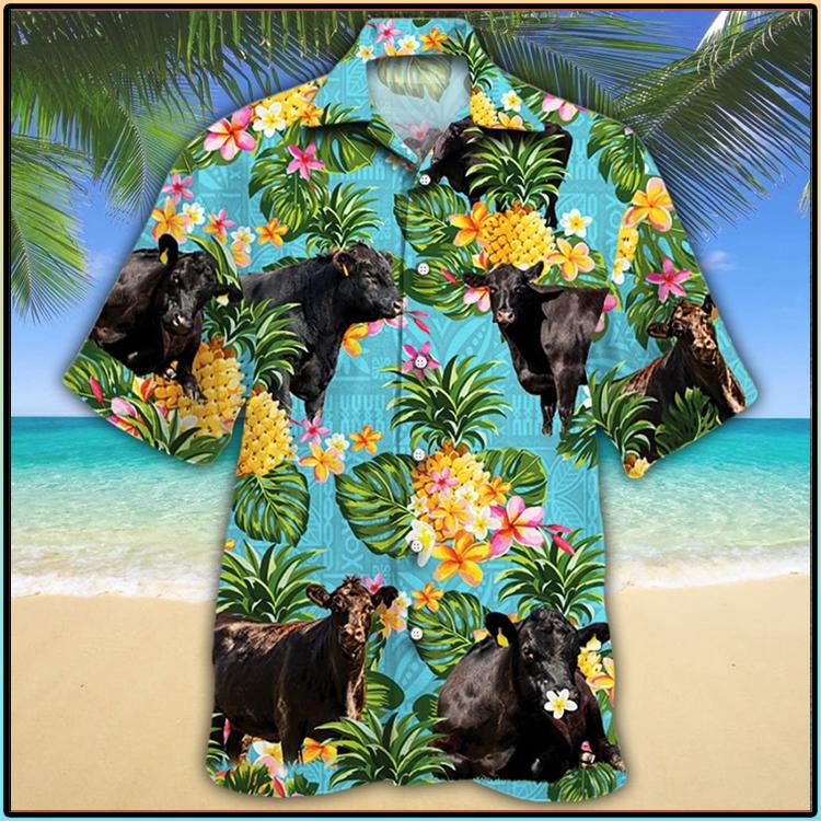 Black Angus Cattle Lovers Hawaiian Shirt6