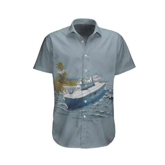 Canberra royal australian navy hawaiian shirt and beach short 1