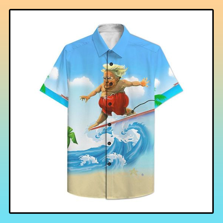 Donald Trump surfing hawaiian shirt2
