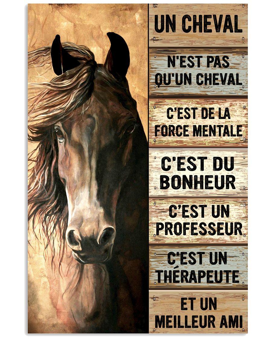 Horse Un Cheval Nest Pas Quun Cheval Cest De La Force Mentale Cest Du Bonheur Poster