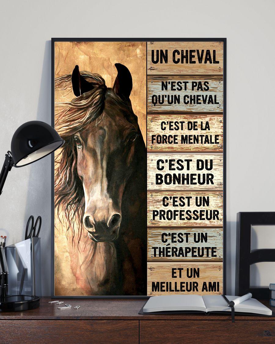 Horse Un Cheval Nest Pas Quun Cheval Cest De La Force Mentale Cest Du Bonheur Poster2