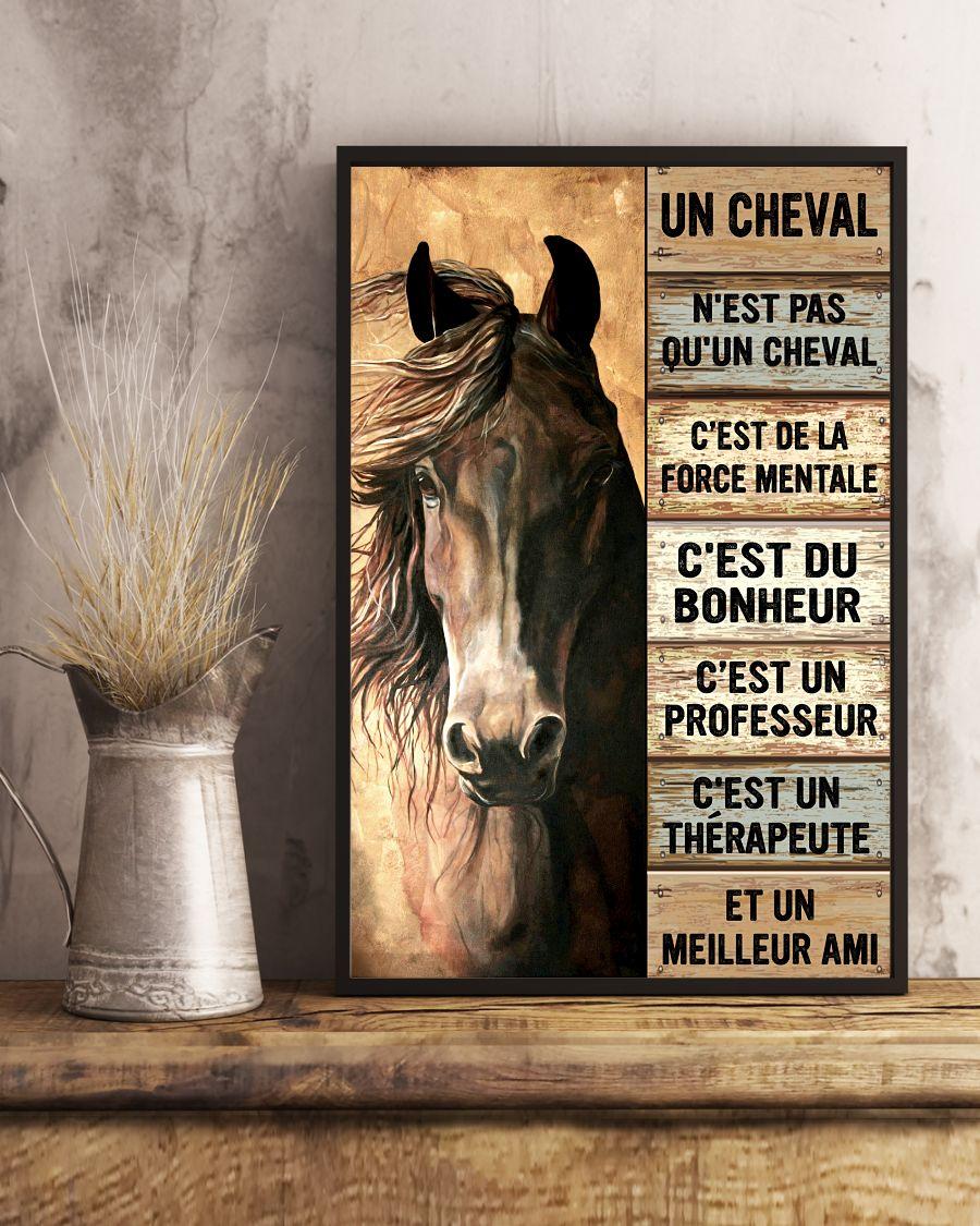 Horse Un Cheval Nest Pas Quun Cheval Cest De La Force Mentale Cest Du Bonheur Poster3