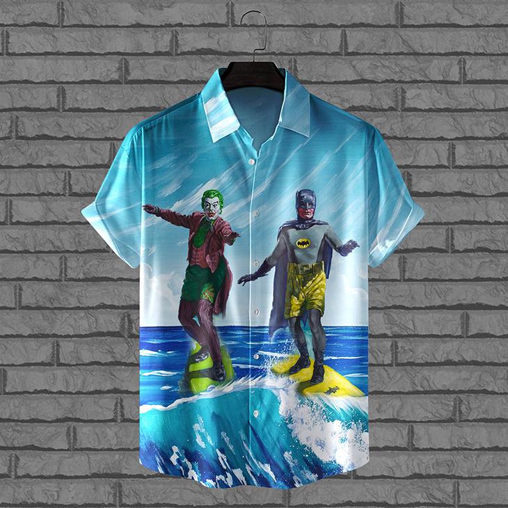 Joker And Batman In Summer Hawaiian Shirt And Short 1