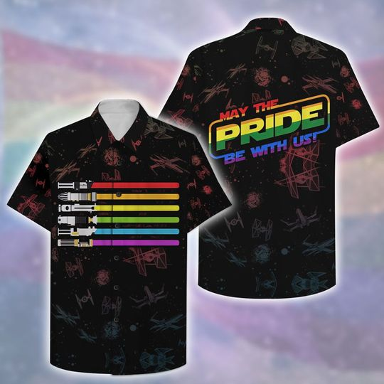 LGBT Star War May The Pride Be With You Hawaiian Shirt