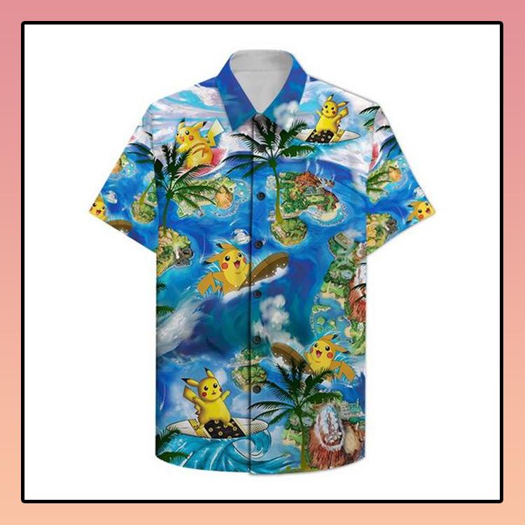 Pikachu surfing Hawaiian Shirt2