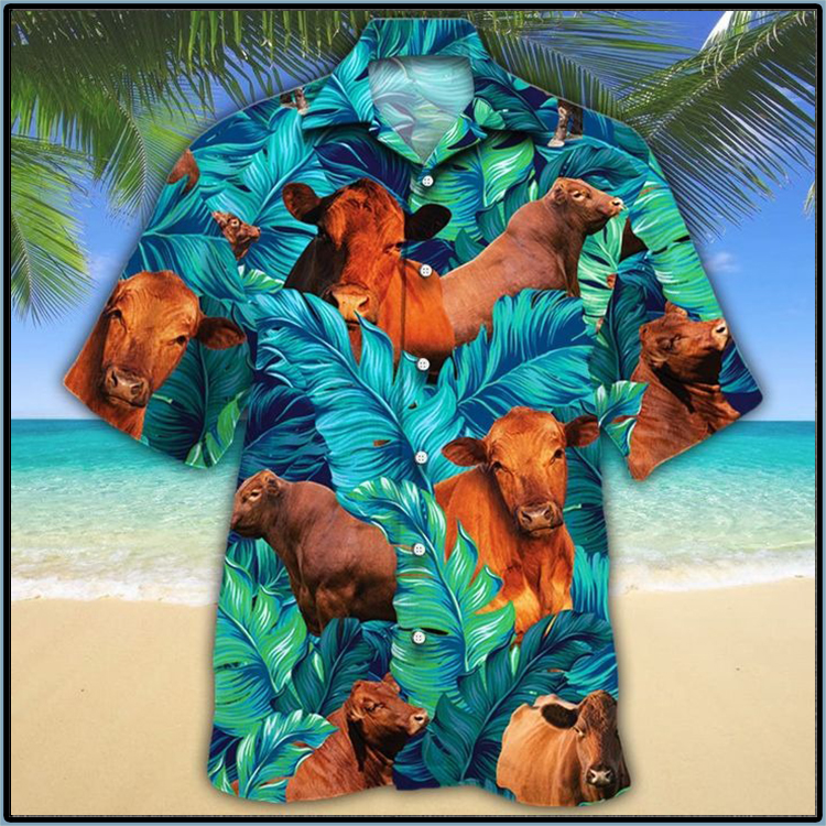 Red Angus Cattle Lovers Hawaiian Shirt1
