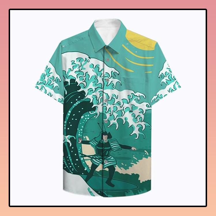Samurai Surfing Hawaiian Shirt1