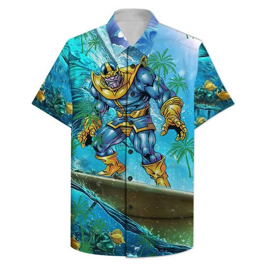 Thanos Surfing Hawaiian Shirt