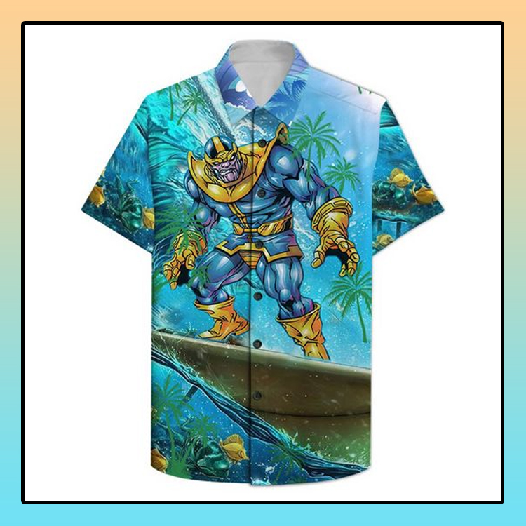 Thanos Surfing Hawaiian Shirt1