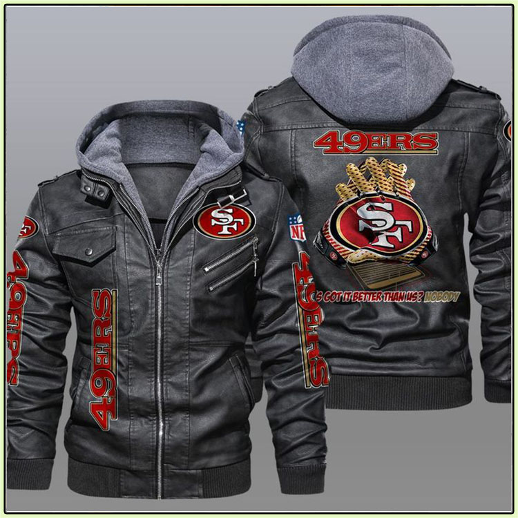 San Francisco 49ers 2D Leather Jacket