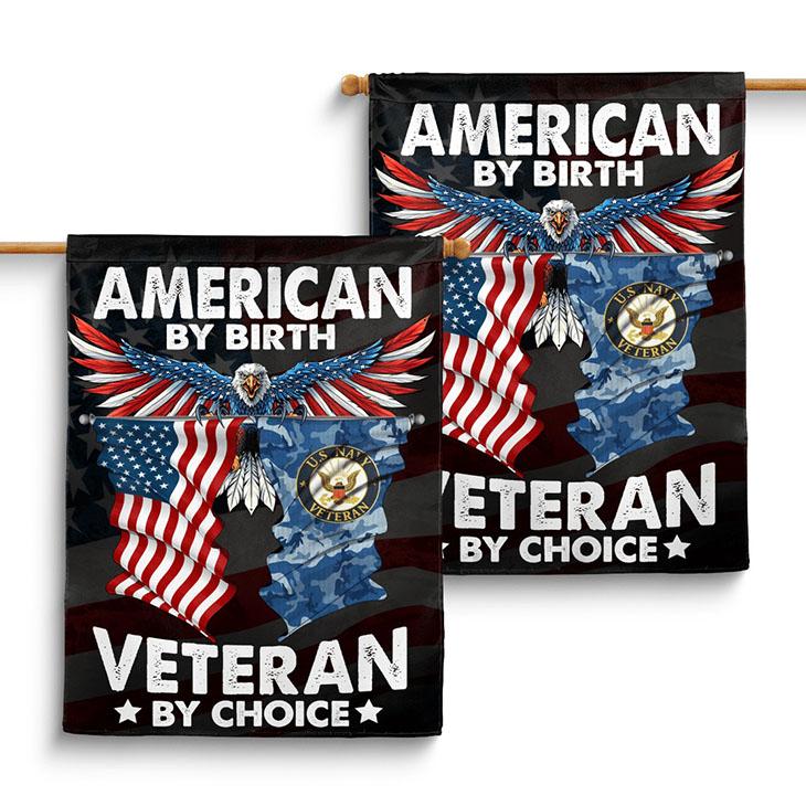 American Eagle Flag By Birth Veteran By Choice Flag2