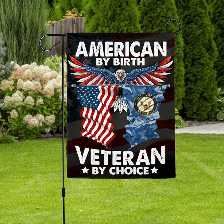 American Eagle Flag By Birth Veteran By Choice Flag3