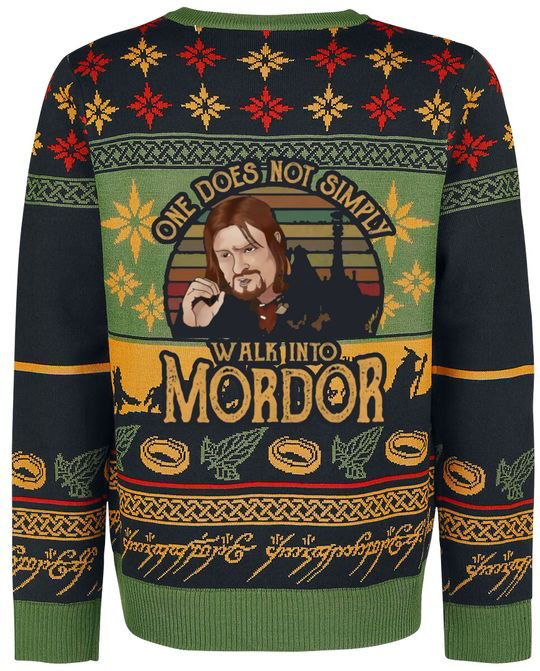 Boromir One Does Not Simply Walk Into Mordor Christmas Sweater 1