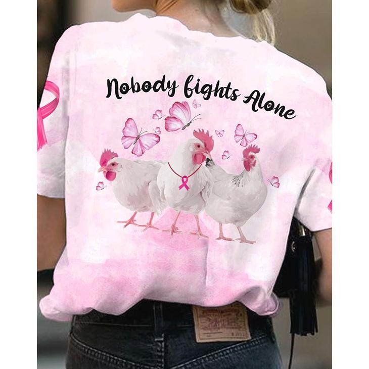 Chicken Nobody Lights Alone 3D TShirt1