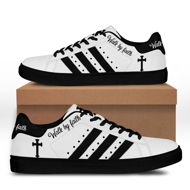 Cross Jesus Walk BY Faith Stan Smith Low Top Shoes2