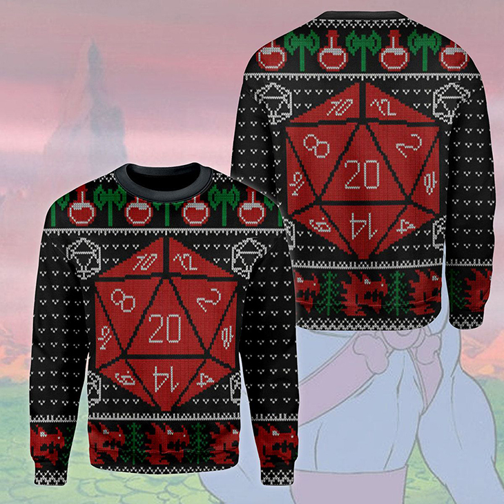 Dungeons And Dragons Ugly Christmas Sweater 1