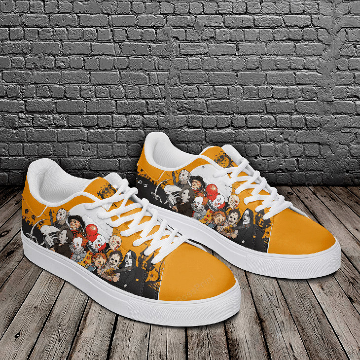 Halloween Horror Logo Stan Smith Low top Shoes2