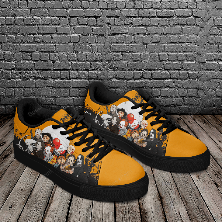 Halloween Horror Logo Stan Smith Low top Shoes3