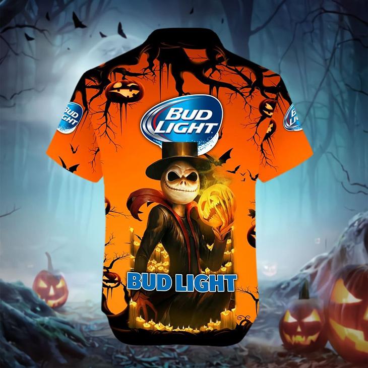 Halloween Jack Skellington Bud Light Logo 3D Hoodie Shirt5