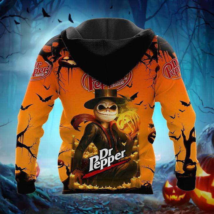 Halloween Jack Skellington Dr Pepper Est 1885 Logo 3D Hoodie Shirt2