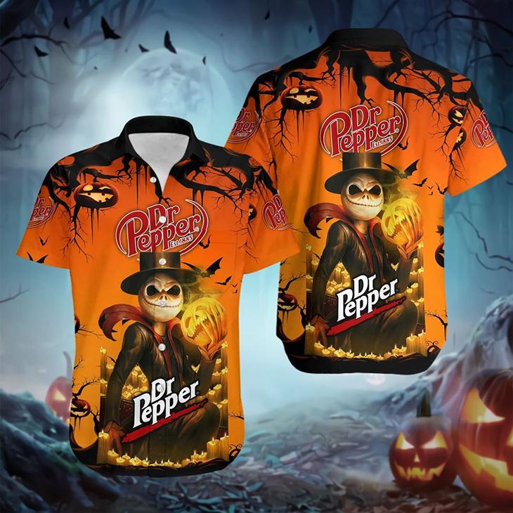 Halloween Jack Skellington Dr Pepper Est 1885 Logo 3D Hoodie Shirt3