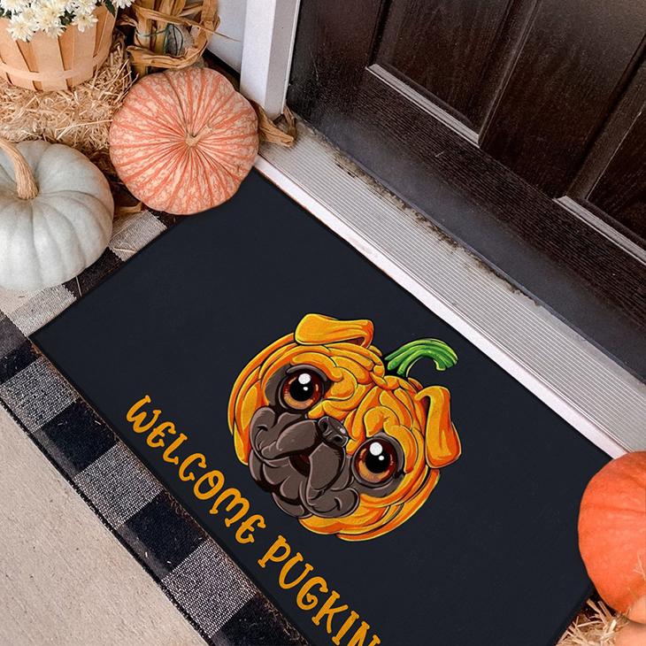 Halloween Pugkin Doormat3